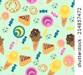 seamless confection pattern.... | Shutterstock .eps vector #214857472