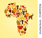 africa continent jungle ethnic... | Shutterstock .eps vector #214859236