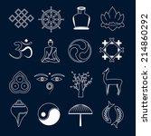 buddhism yoga oriental zen... | Shutterstock .eps vector #214860292