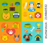 Stock vector veterinary pet food and health care infographic flat isolated vector illustration 214860532
