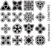 celtic knots in vector editable ... | Shutterstock .eps vector #214867492