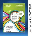 brochure design content... | Shutterstock .eps vector #214871002