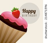 birthday design over   white... | Shutterstock .eps vector #214871596