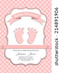 baby girl baby shower... | Shutterstock .eps vector #214891906