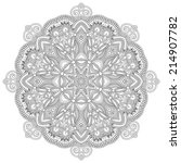 circle lace ornament  round... | Shutterstock .eps vector #214907782
