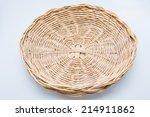 handmade rattan basket on white ...   Shutterstock . vector #214911862