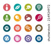 sport color icons | Shutterstock .eps vector #214924972