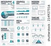 blue infographics vector... | Shutterstock .eps vector #214927516