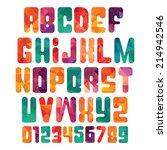 trendy vector font | Shutterstock .eps vector #214942546