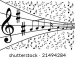 music notes background   Shutterstock .eps vector #21494284