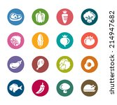 food and vegetables color icons | Shutterstock .eps vector #214947682