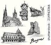 Prague   Hand Drawn Illustration