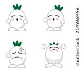 onion cute cartoon with more... | Shutterstock .eps vector #214968496