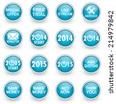 glossy circle web icons set on... | Shutterstock . vector #214979842