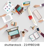 business meeting and... | Shutterstock .eps vector #214980148