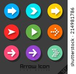 arrow icon set flat design | Shutterstock . vector #214981786