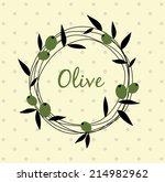 olive wreath | Shutterstock .eps vector #214982962