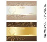 voucher set | Shutterstock .eps vector #214993246