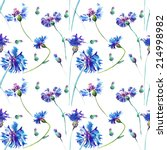 the blue flowers  drawn on a... | Shutterstock . vector #214998982