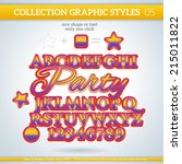 party graphic styles for design.... | Shutterstock .eps vector #215011822
