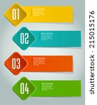 colorful modern label text box... | Shutterstock .eps vector #215015176