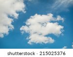 cloud on blue sky background | Shutterstock . vector #215025376