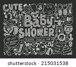 doodle baby background | Shutterstock .eps vector #215031538