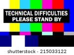 retro television test pattern...