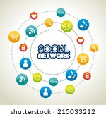 social media design over white... | Shutterstock .eps vector #215033212