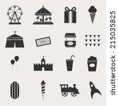 fun park vector icon set   Shutterstock .eps vector #215035825