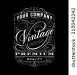vintage label design.  | Shutterstock .eps vector #215042242