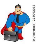 superhero   business man | Shutterstock .eps vector #215043088