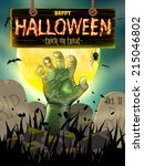 halloween poster for horror... | Shutterstock .eps vector #215046802