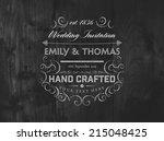 vintage elegant wedding... | Shutterstock .eps vector #215048425
