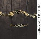 elegant christmas background... | Shutterstock .eps vector #215048482