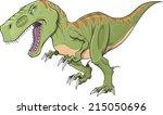 tyrannosaurus dinosaur vector... | Shutterstock .eps vector #215050696