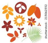 date. fruit. icon set. vector... | Shutterstock .eps vector #215062552
