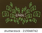 funny illustration with money... | Shutterstock . vector #215068762
