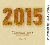 hand drawn new year 2015 ... | Shutterstock .eps vector #215069038