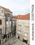 trogir  croatia   aug 22  2014  ... | Shutterstock . vector #215079436