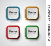 colorful vector banner set | Shutterstock .eps vector #215082418