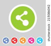 share flat icon badge