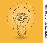 think design over orange ... | Shutterstock .eps vector #215100406