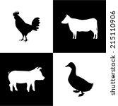 meat design over  white... | Shutterstock .eps vector #215110906