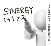 Synergy Word Written By 3d Man...