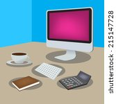 freelance vector objects made... | Shutterstock .eps vector #215147728