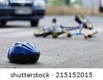 close up of a bicycle accident... | Shutterstock . vector #215152015