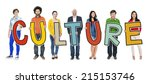 group of people standing... | Shutterstock . vector #215153746