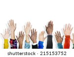 group of multiethnic diverse... | Shutterstock . vector #215153752