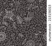 Bird And Plant Seamless Pattern....
